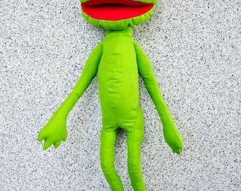 Bright Green Happy Frog Textile Baby Toy Gift