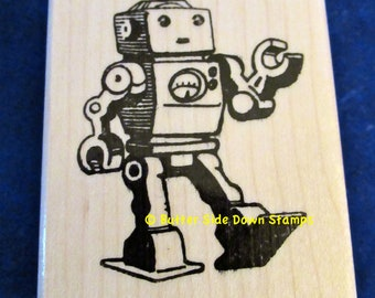 Toy Robot Rubber Stamp