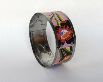 Handmade Tin Bangle, Upcycled One of a Kind Jewelry, Unique