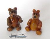 TEDDY BEAR! Glass Sculptu...