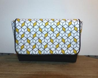 Case / pouch flap geometric cubes
