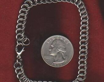 "Half Persian Bracelet Stainless Steel - 8"" Length"