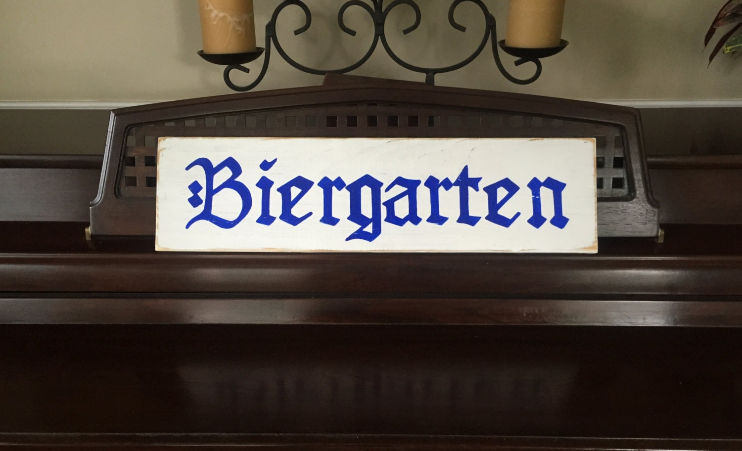 BIERGARTEN Beer Garden Sign Plaque German Deutschlandb Oktoberfest  Octoberfest Party Decor Bavarian Rustic Oompa Band HP Wood Pick Colors