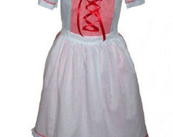 Custom Boutique Little Red Riding Hood  Adult Size Costume Dress Set
