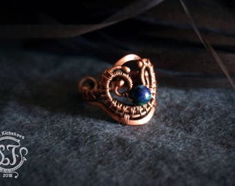 Wire wrap jewelry, Wire wrap ring, wire ring, wrapped ring, Copper ring, Copper jewelry, Adjustable Ring, handmade ring, artisan ring