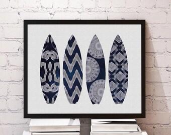 Shibori Inspired Surf Print Coastal, Moroccan, Tribal, Boho Wall Art 8x10 or 11x14 Matte Options