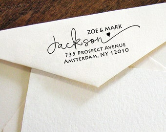 Custom Return Address Stamp, Modern Calligraphy stamp, Self-Inking Personalised Stamp, Address Stamp, Personalized Stamp