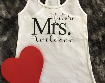 Future Mrs. shirt. Engagement shirt. Bridal shirt. Wedding shirt. Bachelorette shirt. Bride. Wedding.   Newlywed shirt. Fiance shirt.
