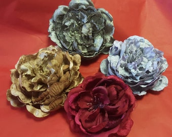 Peony Hair Accessory with Hair Cli back in 4 Colours