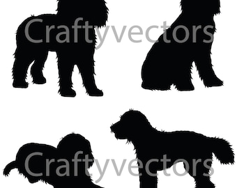Cockapoo Dog SVG Silhouettes