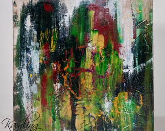 """Autumn Forest - original 20"""" x 20"""" abstract acrylic painting"""