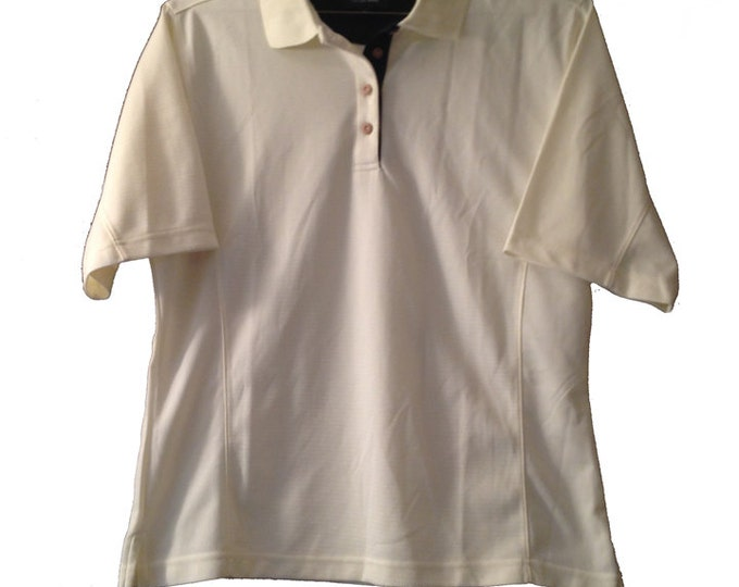 "Large Sam Snead Golf Shirt pale yellow polo shirt short sleeve  ""Fine Golf Apparel"""