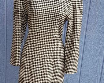Vintage Houndstooth Pristine Dress