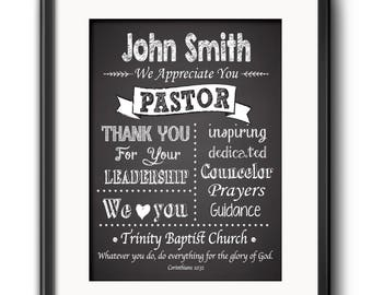 Pastor gift etsy pastor gift pastor appreciation wall decor minister gift personalized pastor gift religious art christian wall decor pastor gift spanish negle Choice Image