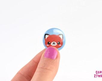 KAWAII BUTTON FUCHS Füchse Fox - 25 mm 1 Zoll Inch Buttons Ansteckbutton Nadelbutton Pin Buttons Gothic Motiv Rot Blau Weiß Schwarz