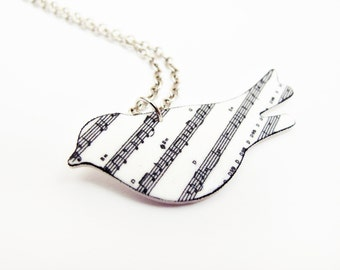 Song Bird Music Note Necklace