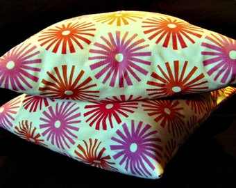 Pair of Pillow Covers 18 x 18 Tinkertoy Sun by Lilikins Home