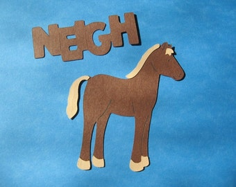 Spring sale horse diecut with saying