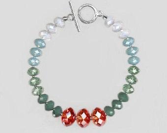 Sterling Silver Bracelet  with Swarovski Briolette Beads