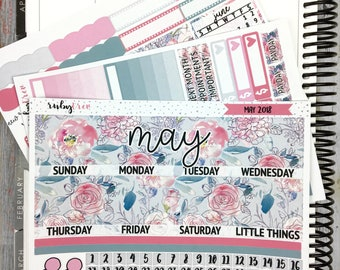 Erin Condren May Monthly View Kit- Scrapbook/Planner Stickers
