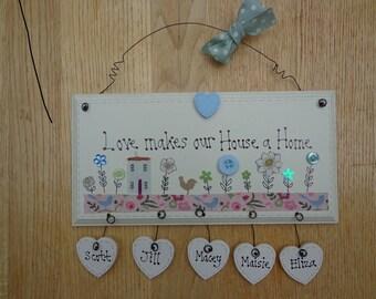 house warming, new home handmade wooden plaque, keepsake, present