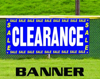 Clearance Sale Advertising Vinyl Banner Sign Retail Mega Discount Store Shop