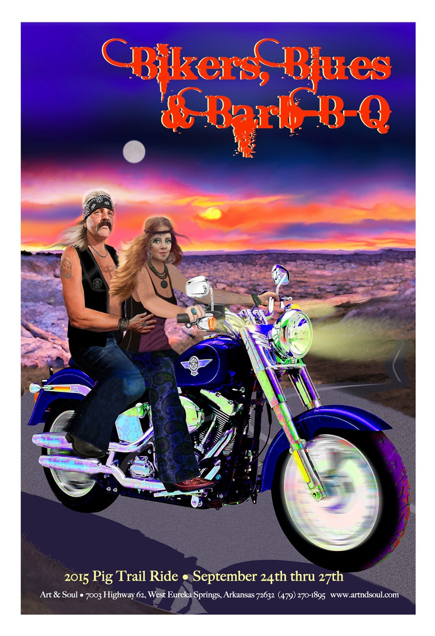 Motorcycle art motorcycle poster man and woman on harley zoom kristyandbryce Image collections