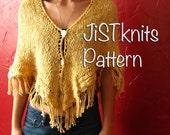 Knit Shawl Pattern, Fring...