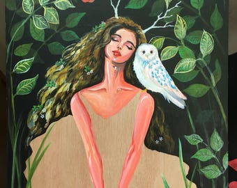 """Prints: """"For the Most Beautiful"""" - acrylic painting on wood panel ."""