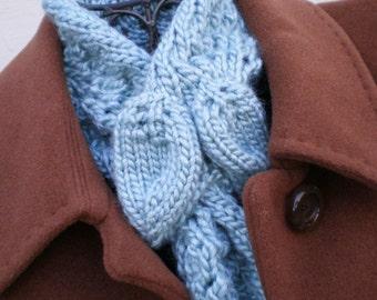 PDF Knitting Pattern - Leaves Scarf / Ascot