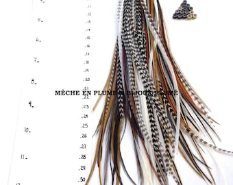 50 Feathers Extensions 7' - 13' /Bulk feathers /Natural Colors /Hair Extension /Craft