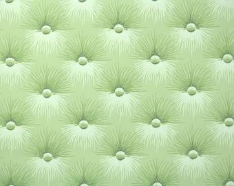 1940s Vintage Wallpaper - Chartreuse Button Tuft