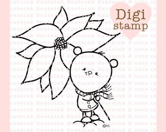 Oso de canela le encanta Nochebuenas para tarjeta hacer manualidades de papel, Scrapbooking, bordado a mano, joyas, páginas para colorear