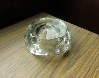 Vintage Glass Lamp Light Base