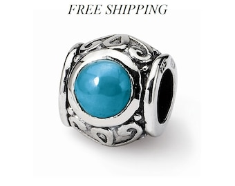 Sterling Silver Turquoise Bead