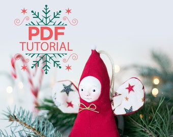 Doll making tutorial, Christmas gift sewing pattern, angel sewing pattern, Christmas pdf tutorial, art doll tutorial, Christmas crafts ebook