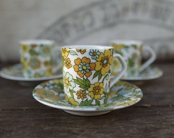 Three cups Tognana - porcelain - Vintage - Made in Italy.