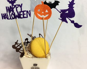 Halloween Picks Cake Topper Cup Cake Holiday Party Decoration