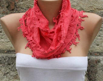 Valentine's day gift,Red Scarf Cotton Scarf Easter Cowl Scarf Gift Ideas For Her Women Fashion Accessories Mother's Day Gift Holiday Fashion