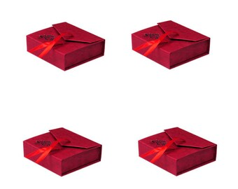4 RED color Bracelet Cardboard Jewelry Box-HE2