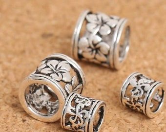 5/8mm 925 Sterling Silver redbud Tube Beads / Findings / Spacer Antique Silver Bead