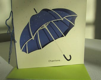 Exemplary unique umbrella card (handmade)