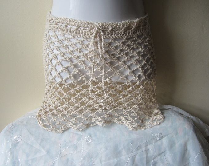 Crochet skirt, lace skirt, overlay crochet skirt, beach cover up, boho, festival skirt, gypsy skirt, hippie, cotton