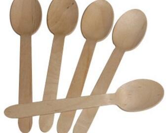 24 Blank Wooden Spoons/Wooden Spoons/Spoons/Birthday Spoons/Wooden Party Spoons/Spoons
