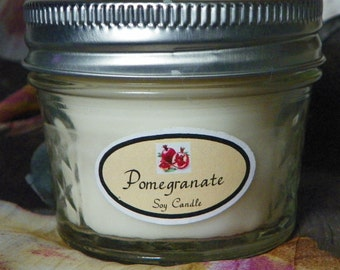 Pomegranate 4 oz. Jelly Jar Natural Soy Candle by Abigail's on Main