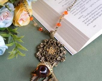 Crystal acorn necklace - lolita sweet fairy kei kawaii mori kei classic fashion