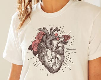 Heart Shirt, Anatomy Tshirt, Human Heart Shirt, Anatomy Nerd, Anatomical Heart, Heart Doctor Gift, Cardiologist, Anatomy Clothing