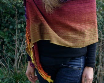 Lightweight shawl / scarf hand woven