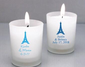 24 pcs Paris Wedding Personalized Frosted Glass Candle Favor  - JM218773