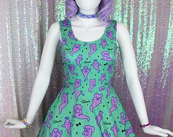 """Teal """"Lil' Ghosties"""" Dress"""